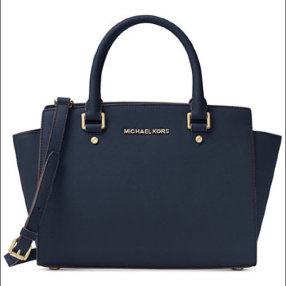 Michael Kors Tote Bag On Sale, Admiral Blue, Leather, 2017, one size